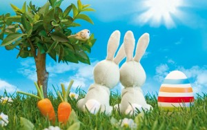Easter_Bunnies_1280 x 800 widescreen