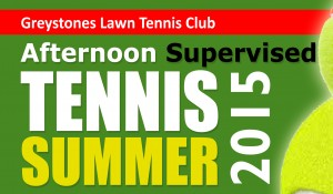 Afternoon Supervised Tennis – July & August 2015