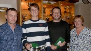 Men's Club Championship Finalists - Robert Stone (Runner Up) & Odhran O'Sullivan Hamill (Winner)