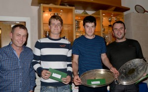 Men's Doubles Finalists:L to R: Nick Cahill & Odhran O'Sullivan Hamill (Runners up) and Rory Curtis & Robert Stone (Winners)