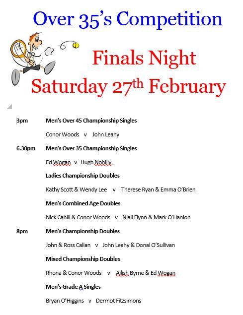 Schedule Finals