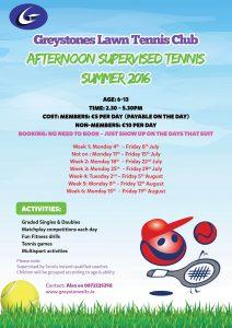 Afternoon Tennis flyer 2016