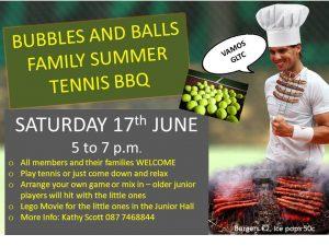Bubbles & Balls Family Summer Tennis BBQ