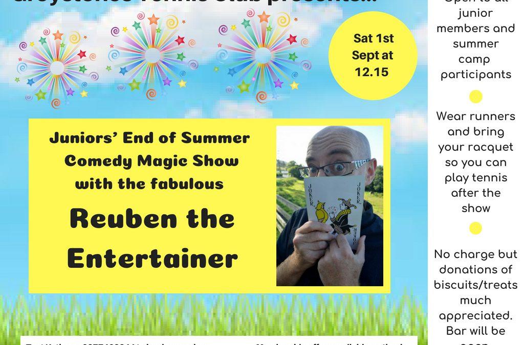 Juniors' End of Summer Comedy Magic Show