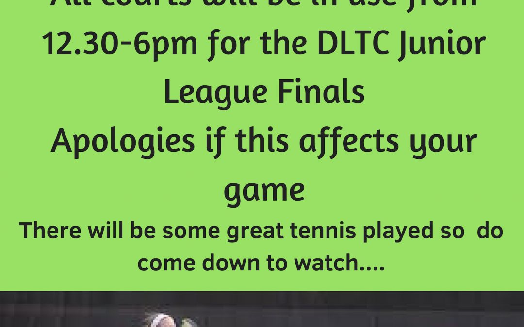 Sunday 18th November – Junior League Finals