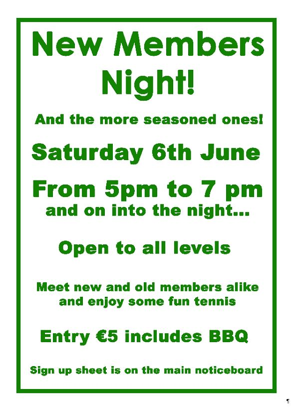 New Members Night 06-06-15