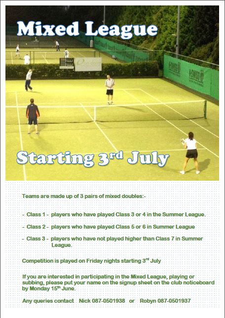 Mixed League Poster 2015