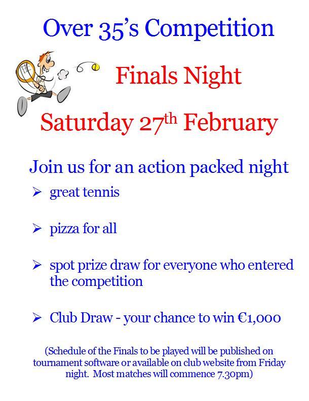 Finals Night Feb poster