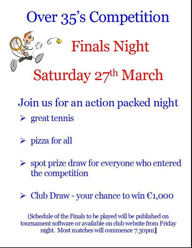 O35 Finals night poster