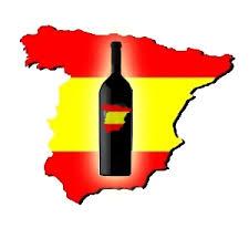 spanish wine on map of spain