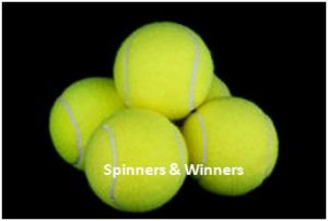 spinners and winners on dark background