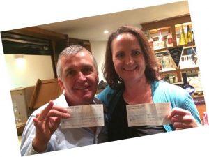 Donal and ailish winners of GLTC club draw