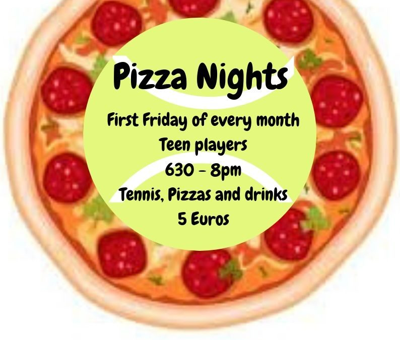 Junior Pizza Nights! Tennis, pizza and chat for teens