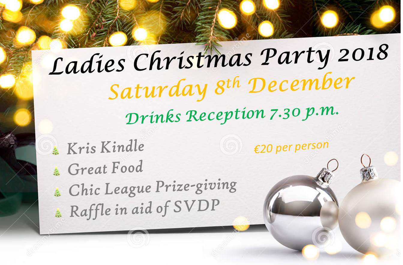 LADY CAPTAIN'S CHRISTMAS PARTY AND DINNER - not to be missed