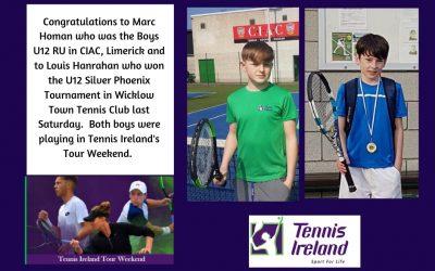 'Tennis Ireland Tour Weekend' Success