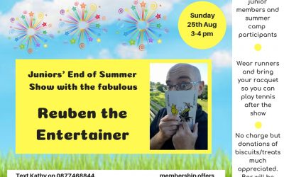 Juniors' End of Summer Show!