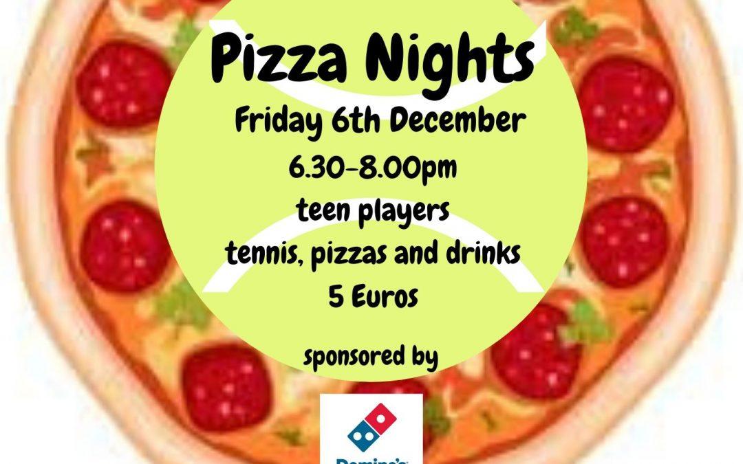 Junior Pizza Night – 6th December