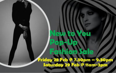 Ladies – New-to-You Pop-Up Fashion Sale 28 – 29 Feb