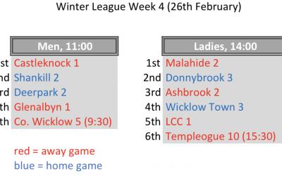 Winter League Week 4