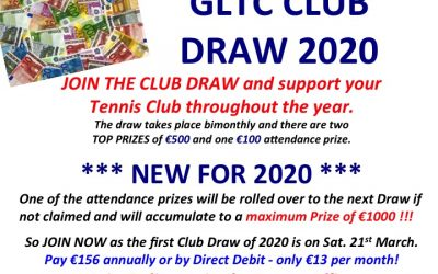 NEW FORMAT FOR CLUB DRAW 2020