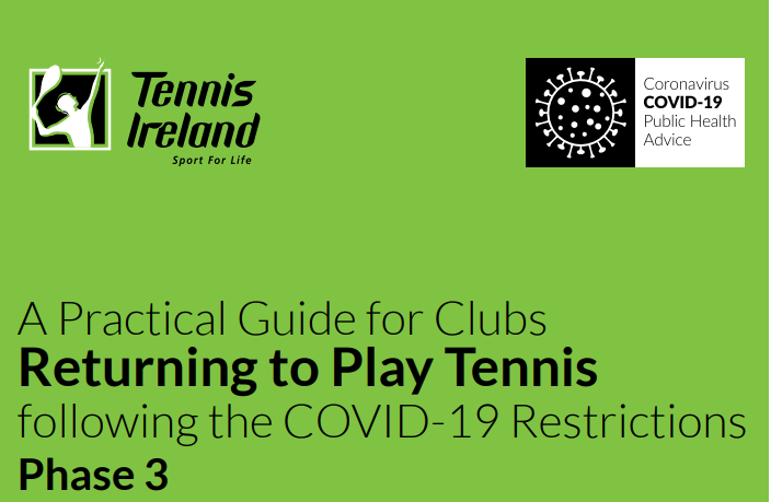 Return to playing tennis guidelines – Mon 29 June