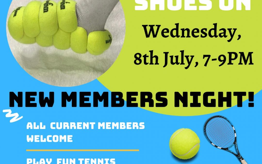 New Members Night – Wed 8 July at 7pm