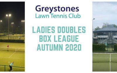 Ladies Doubles Box League starts w/c 24 Aug